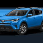 2018 Toyota RAV4 light blue