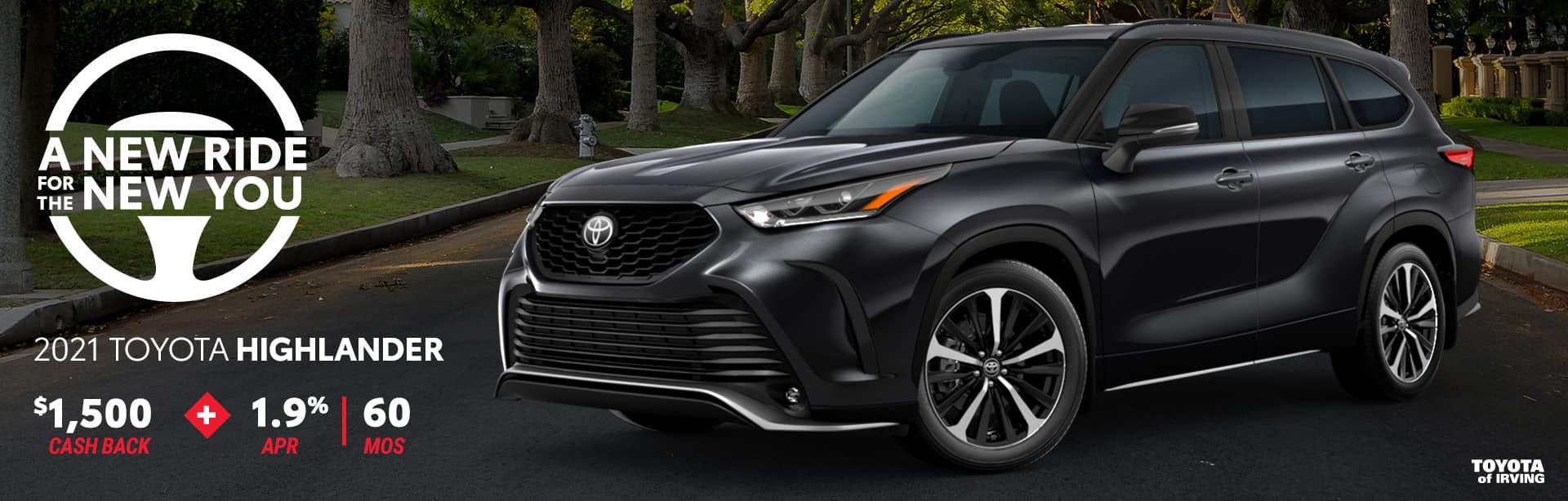2021 Toyota Highlander April Incentives