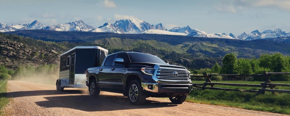 2020 Toyota Tundra Towing Trailer in Mountains