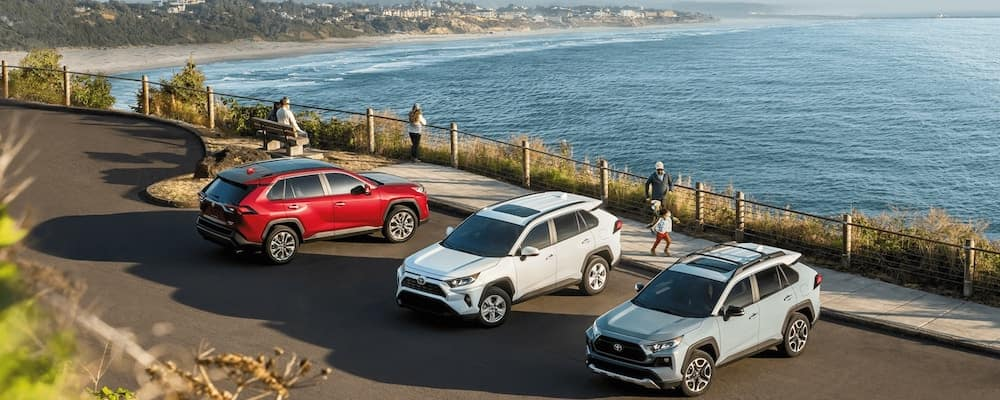 2020 Toyota RAV4 Models by Beach