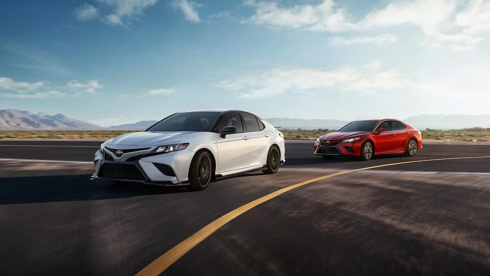 2020 Toyota Camry Models Turning on a Track