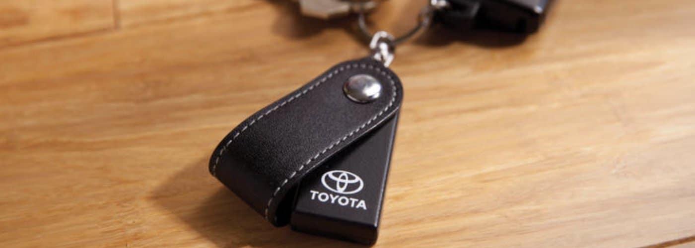 Toyota Key Fob on desk