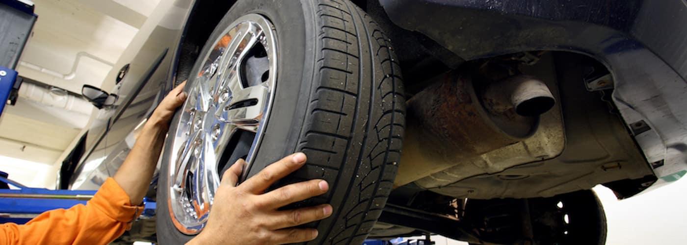 Man changing tire