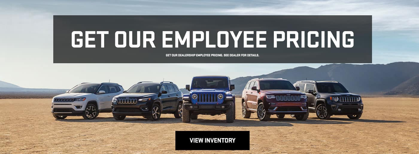 Dealership Employee Pricing Banner