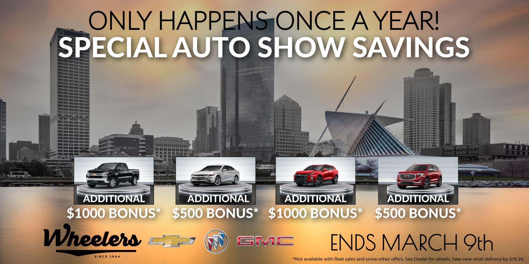 Special Auto Show Savings