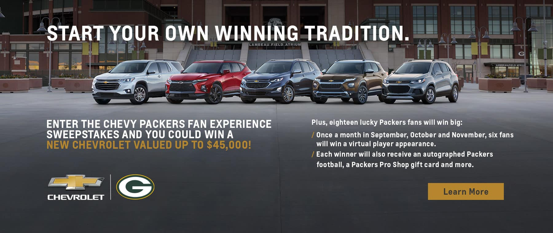 Start your own winning tradition